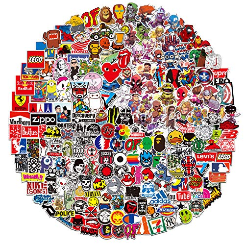 DRABALL ST-999 (400pcs) Lustige Wasserflaschen, Laptop, MacBook,Reisetasche, Gepäck, Auto, Fahrrad Aufkleber für Jugendliche Ästhetik Trendy Sticker Wasserdicht, Sticker-400pcs, 1