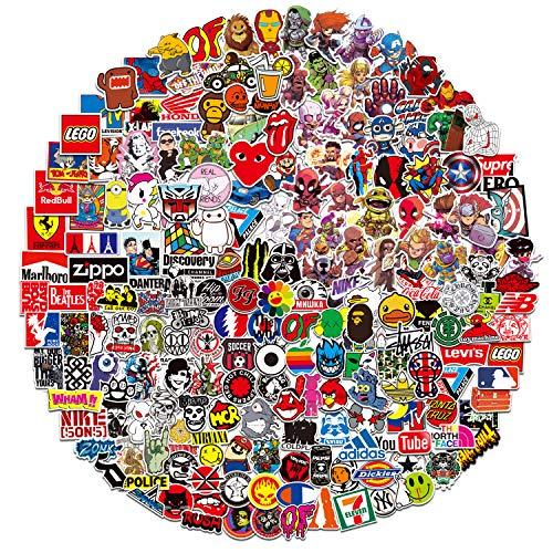 DRABALL Fashion Autocollants Paquet (400 pcs) Graffiti Autocollant en Vinyle pour Moto, Ordinateur Portable, Bouteille d'eau, Snowboard, Bagages, Motos, iPhone, MacBook Bumper Bomb Sticker Waterproof