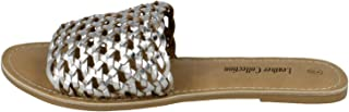 Kidderminster Leather Collection Flat Sandal For Women, 41 EU
