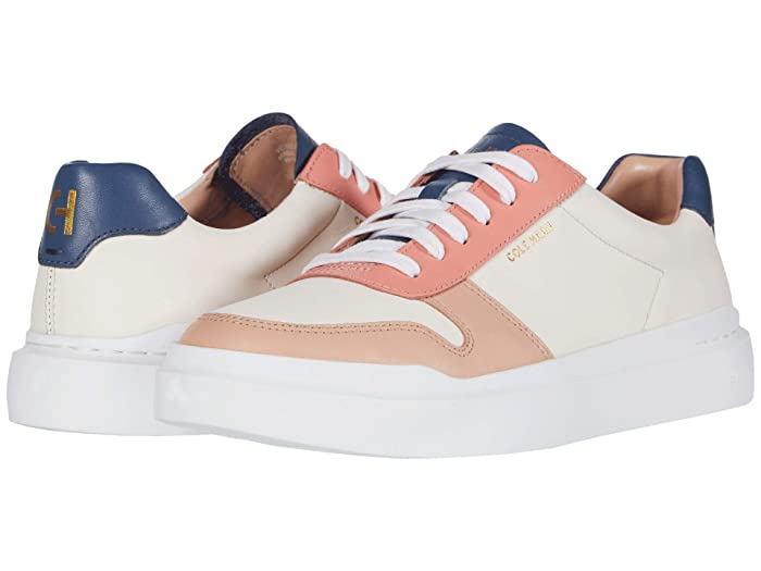 Cole Haan  Grandpro Rally Court Sneaker (Sheer Pink/Vintage Indigo/Burnt Coral/Mahogany Rose/Optic White) Womens  Shoes