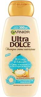 Garnier Ultra Dolce Shampoo Crema Rituale d'Argan, per Capelli Molto Secchi, 300ml