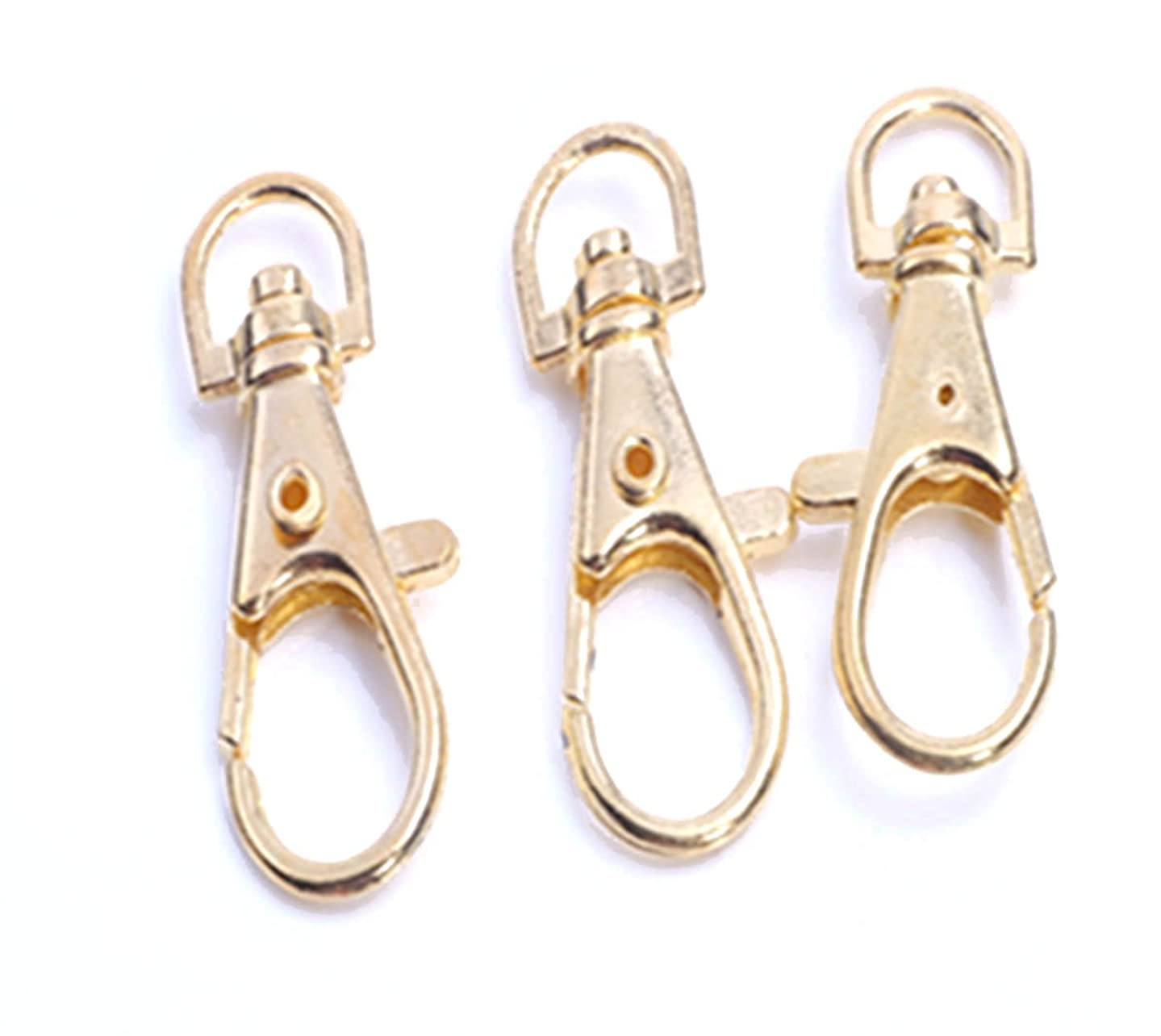 YOYOSTORE 50 Pc Gold Pattern Carabiner Lobster Clasps Key Chain for Keyring Hook Finding DIY