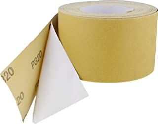 ABN Adhesive Sticky Back 320-Grit Sandpaper Roll 2-3/4in x 20 Yards Aluminum Oxide Golden Yellow Longboard Dura PSA