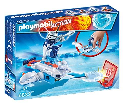 Playmobil Fire & Action- Action Playmobil Figura Robot con Nave Lanzadera de Hielo Juegos de construcción, Multicolor (6833)