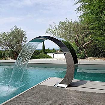 Pool Waterfall Stainless Steel for Pools Garden Outdoor Pond Water Feature and Swimming Pool  600300Mm