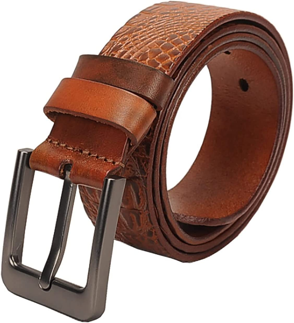 HFDJ First Layer Cowhide Belt Be Max 78% OFF Men's Max 57% OFF Crocodile Leather