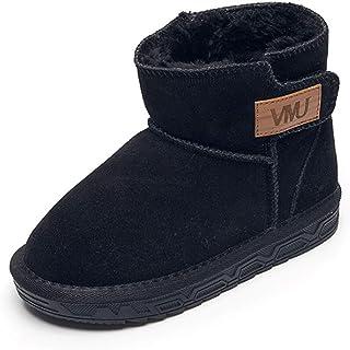 [Cozy Maker] C&M スノーブーツ ムートンブーツ キッズ ショートブーツ 男の子 女の子 裏ボア 靴 防寒 無地