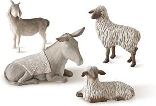 Willow Tree hand-painted sculpted figures Sheltering Animals for The Holy Family, 4-piece set