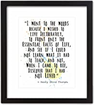 Wall Art Print by ArtDash ~ HENRY DAVID THOREAU Famous Quote: 'I Went to the Woods to Live Deliberately...' (8