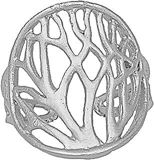 生命树枝状戒指(可调节尺寸,银色)Mercedes Shaffer 设计