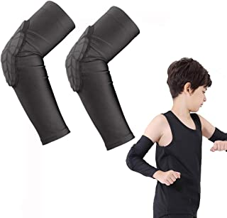 ACELIST Kids/Youth 5-15 Years Sports Honeycomb Compression Knee Pad Elbow Pads Guards Protective Gear for Basketball, Base...