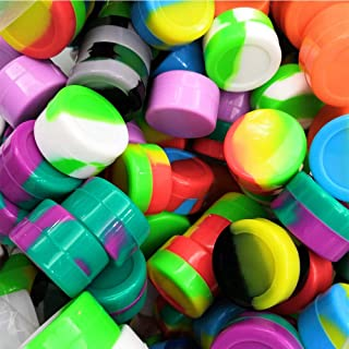 50Pcs Non-Stick Silicone Wax Dab Containers 5ml Multi Use Storage Jars Cream Emulsion Bottles Assorted Colors