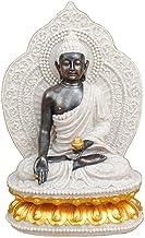 Thai God Statue, Thai Sitting Buddha Statue Resin Home Crafts Religious Dedication Decoration Believer Gift