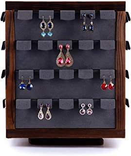 Jewellery Boxes Stud Rack 80 Earrings Jewelry Display Stand Jewelry Storage Rack Jewelry Shop Window Display Props Jewellery Boxes & Organisers (Color : Brown, Size : 30 * 37cm)
