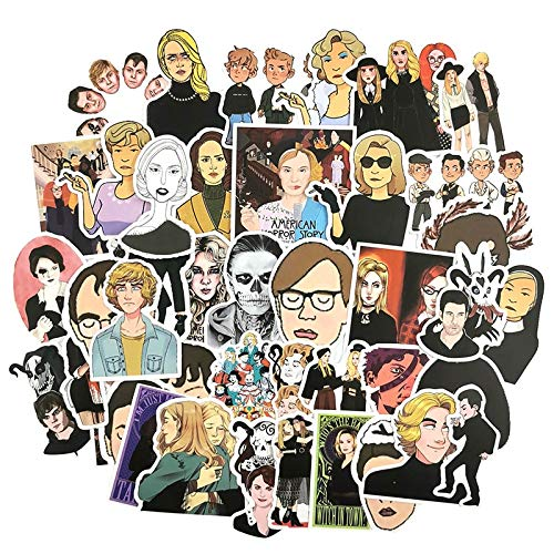 TV Series American Horror Story Decor Stickers for Laptop Phone Refrigerator Motorcycle Suitcase Skateboard Guitar 50Pcs/Lot