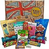 Heavenly Sweets 100% Vegan Snack e Candy Box - Gustosi dolcetti, Regalo perfetto per Bambini, Adulti - Compleanno, Natale, Riempitivi Pasquali - 14 Dolci, 25x18x2,5cm