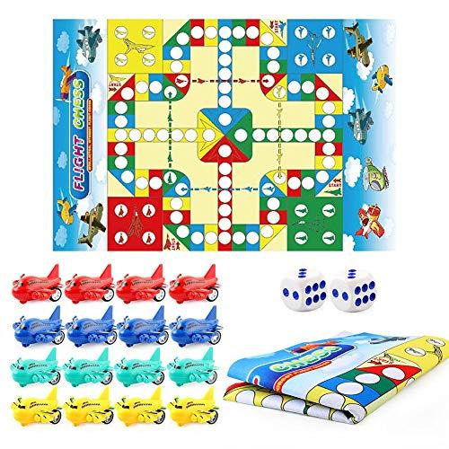 Keyeep Puzzle Schachspiel Eltern-Kind-Spiele Teppich Dreidimensionale Fliegende Schach-Krabbelmatte 70 80 cm Faltbare Innenpuzzle Interaktive Matte