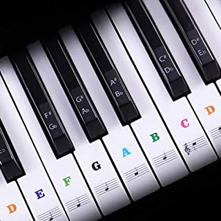 Piano Keyboard Stickers for 88/61/54/49/37 Key, Colorful Pia
