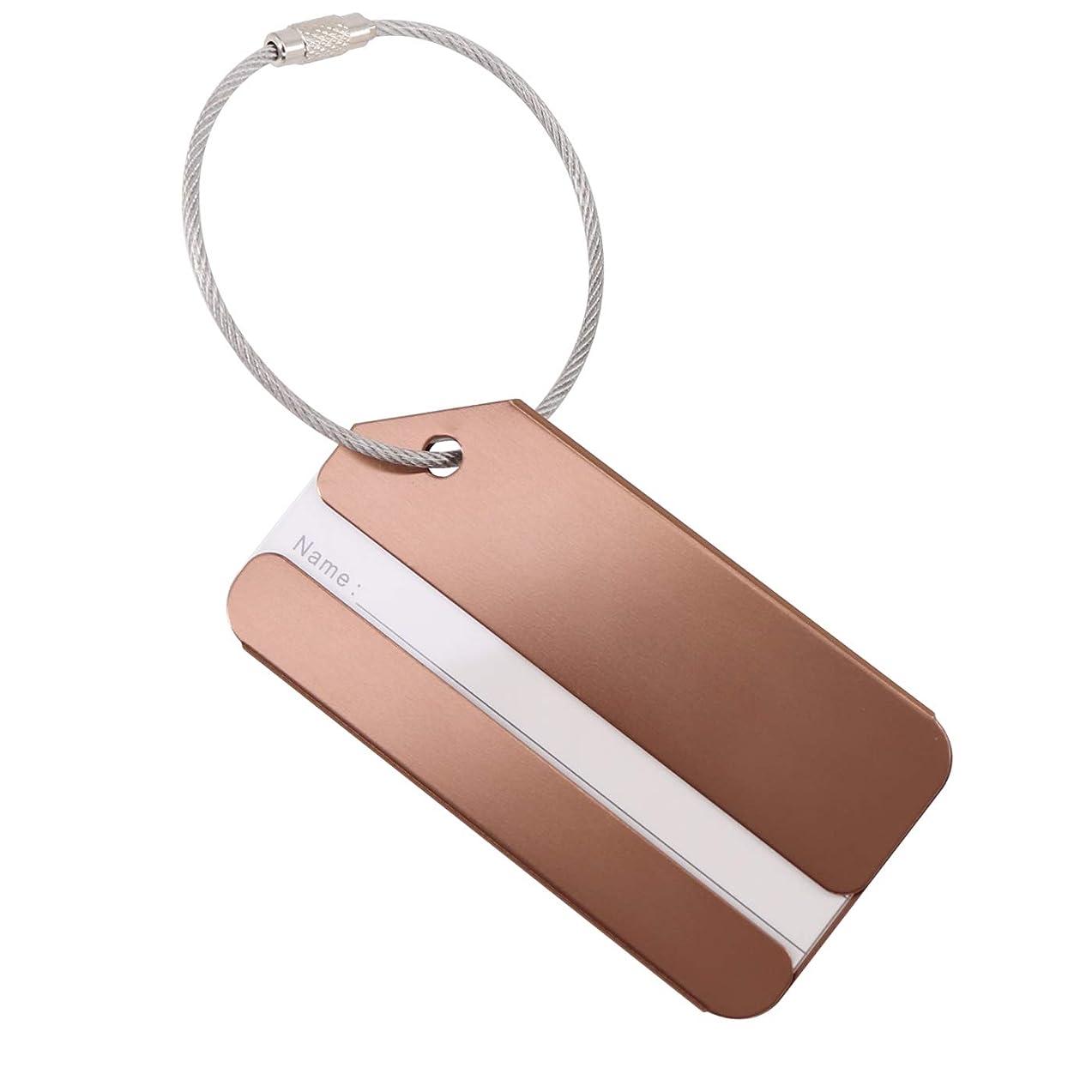細いドレス時間アルミニウム合金 ネームタグ 出張旅行用名前入れ 軽量 防水シール付き 8色