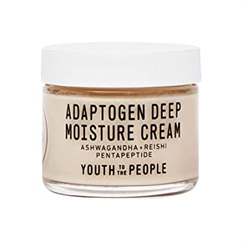 Youth To The People Adaptogen Deep Moisture Cream - Clean Skincare - Hydrating Vegan Face Moisturizer with Reishi Mushroom, Squalane + Peptides (2oz)
