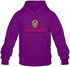 Men University of Wisconsin Madison Custom Retro Hoddies by Mjensen