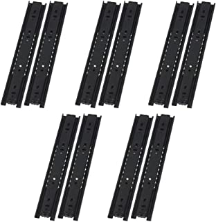 VADANIA Basic Drawe Slides A1245 12 Inches, Black, 5 Pairs