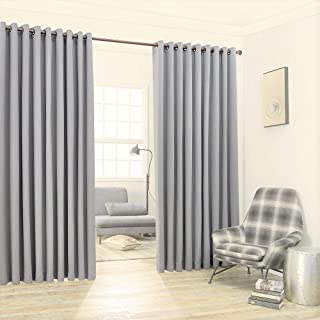 Warm Home Designs Extra Large 2 Light Grey Wall to Wall Curtains 108