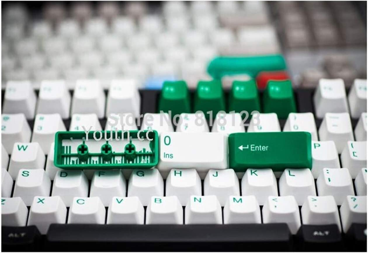 Keyboard keycaps Mechanical Keyboard Keycaps 104 Keycaps Taihao Double Shot Granite Dolch Keycap Multicolor Axis Body : 104 Keys, Color : Cheese White
