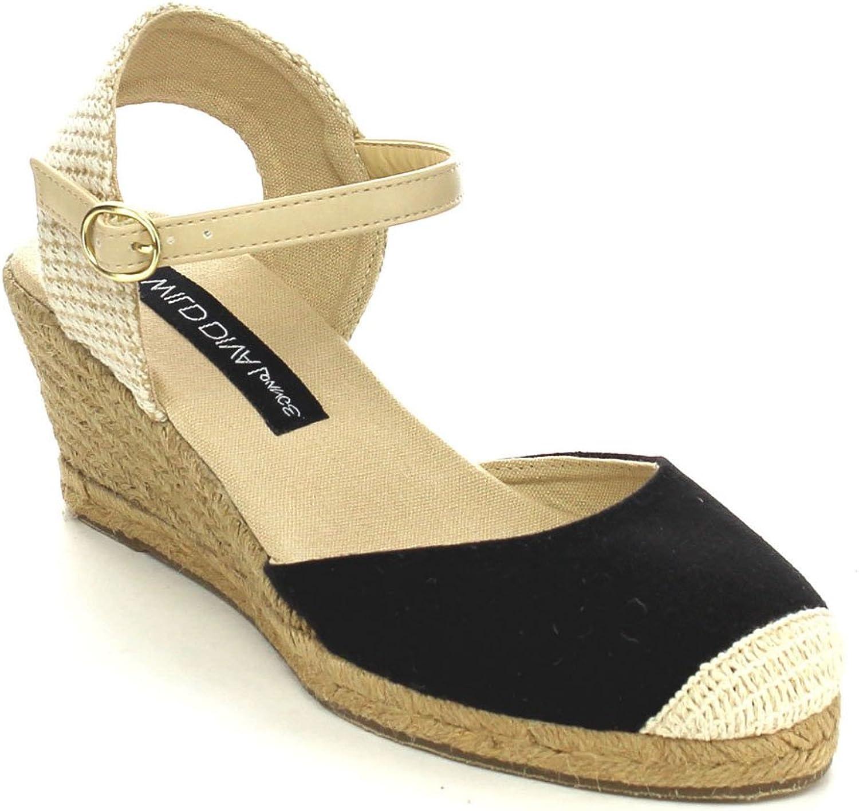 Wild Diva Sally-02 Women's D'Orsay Ankle Strap Espadrille Platform Wedge Pumps