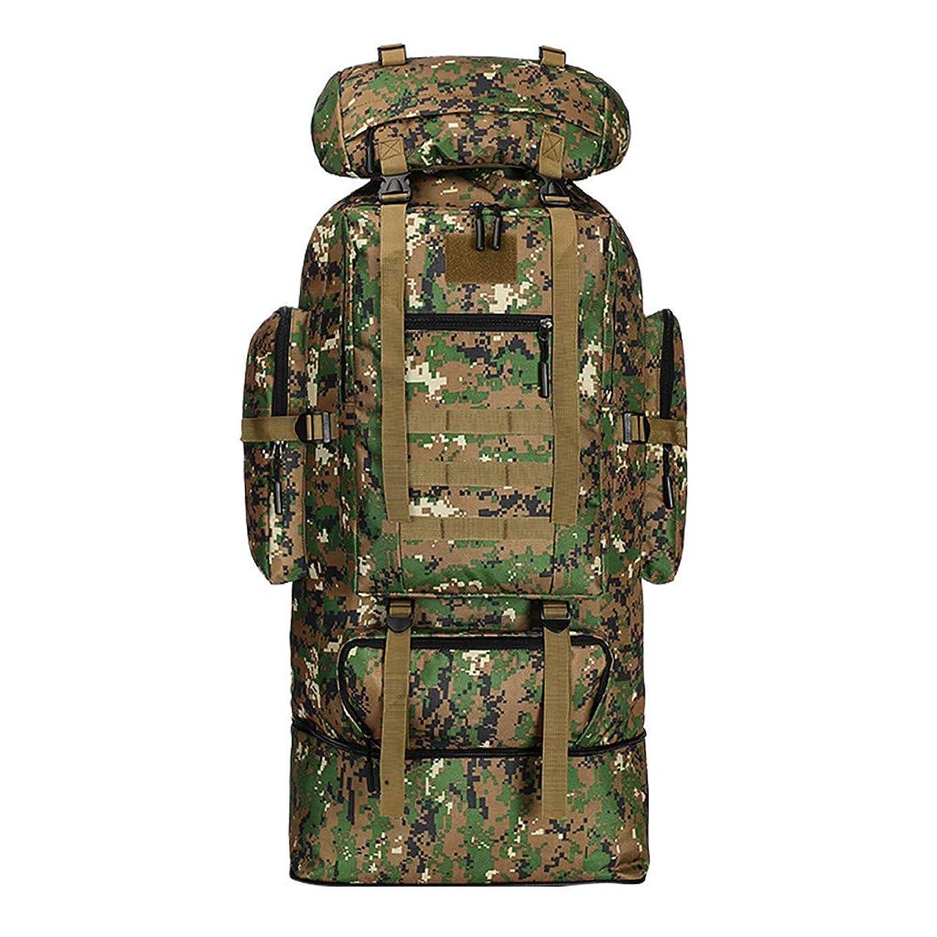 柔らかい足メンテナンスに話す大容量100Lバックパック迷彩印刷屋外バッグ旅行登山バッグ収納防水おしゃれバックパック人気バックパック大容量 人気バックパック