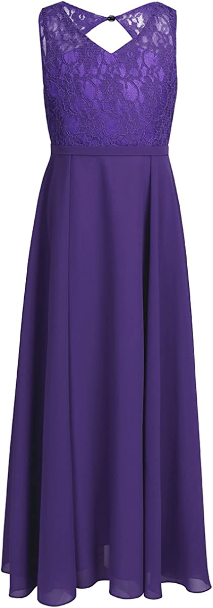 LiiYii Big Girls Special Occasions Evening Dress Princess Party Gown Birthday Formal Bridesmaid Cutout Back