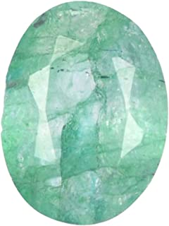 Real Gems Piedra Preciosa Suelta Verde Esmeralda Natural 5.00 Quilates Certificado por EGL Color Verde Forma Ovalada Piedr...