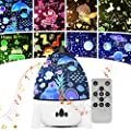 Star Night Light Projector for Kids, LED Galaxy Projector Lamp for Bedroom, 7 Lighting Modes Mood Lights for Baby Boys Girls Teens Adults Children Room, with Remote Control and 8 Sets of Film