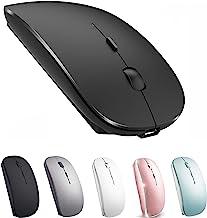 Wireless Mouse for MacBook iMac Desktop Computer Chromebook Wireless Mouse Laptop Mac Windows (Black)