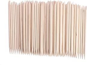 Adecco LLC 50PCS/150PCS/500PCS/1000PCS Nail Art Orange Wood Sticks Cuticle Pusher Remover Manicure Pedicure Tool 110mm (50P)