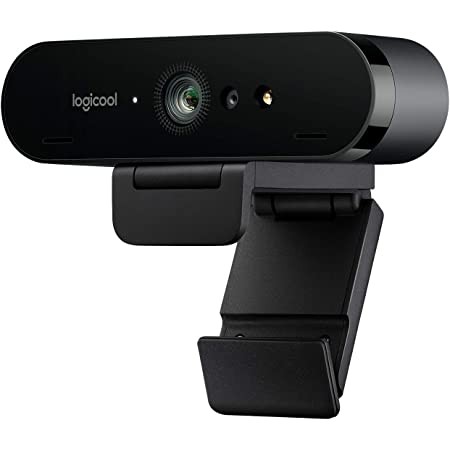 Logitech Brio Stream Webcam, Streaming Full HD 1080p/60fps, Edición Streaming, Superrápida, Corrección de Iluminación HD, para Skype/Google Hangouts/FaceTime, Para Gaming, Portátil/PC/Mac, Color Negro