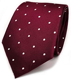 a3972214ea864 TigerTie soie Cravate rouge bordeaux bordeaux Blanc Pois – Cravate Soie