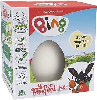 Sanlebi 12 Uovo di Pasqua Plastica Giocattolo Riempire con Macchinine per Bambini
