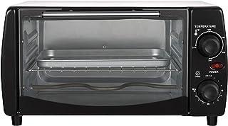 WOLTU Horno Eléctrico de Sobremesa 800W 12 Litros Horno de Conveccción, 37x30x20.5 cm Temperatura Hasta 250ºc Horno Tostador Mini Multifunción Blanco+Negro BF10wsz