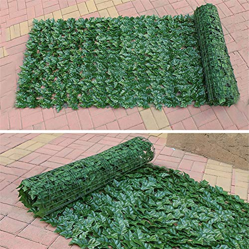 learnarmy Artificial English Leaf Screening Roll 50X100cm Privacy Hedging Wall Landscaping Garden Fence UV Fade Protected Privacy Screen Garden Fence for Indoor Outdoor Backyard Home Decor
