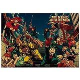 ALTcompluser Anime My Hero Academia Poster Retro