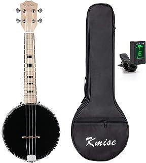 Kmise 4 String Banjo Ukulele Uke Concert 23 Inch Size Sapele With Bag Tuner (MI2233)