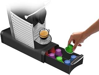 Mind Reader 'Slim' para 16Cápsulas Nespresso, 12K-Cups, 14cbtl/verismo Pods, Black Café Pod Storage cajón
