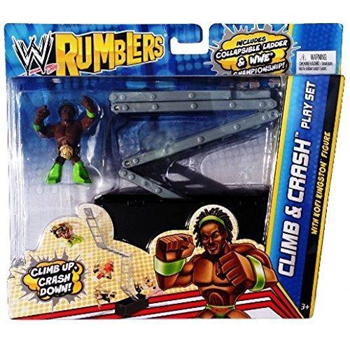 WWE Rumblers – Climb and Crash – Kofi Kingston – Figurine 5cm + Echelle Pliante (Import Royaume-Uni)