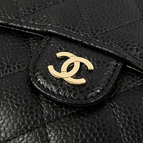 [シャネル]CHANELマトラッセキャビアスキン二つ折り財布AP0231ブラック[並行輸入品]