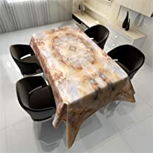 Polyester Cotton Marble Grain Table Printed Table Cloth Home Rectangular Tablecloth Table Mat Festive Waterproof Table Cover C 140x240cm/55x94in