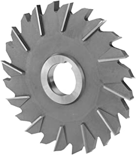 6 Diameter 1.25 Hole Size 3//8  Width of Face 24 Number of Teeth F/&D Tool Company 11533-AX554 Staggered Tooth M-42 Cobalt Side Milling Cutter Staggered Tooth