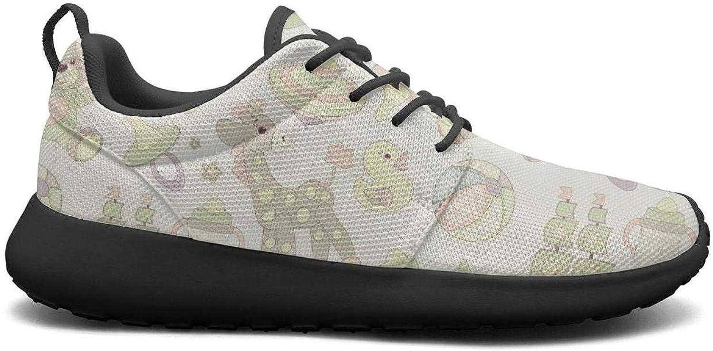 Gjsonmv Bear Giraffe mesh Lightweight shoes for Women Comfortable Sports Tennis Sneakers shoes