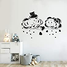 guijiumai Diseño Creativo Cute Cloud Vinyl Wall Decal Sticker Love Clouds Baby Nursery Decoración de la Pared Murales Extraíble DIY Stickers L 8 M 85cm x 56cm