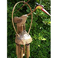 LARGE BIRD BAMBOO WINDCHIME Handmade